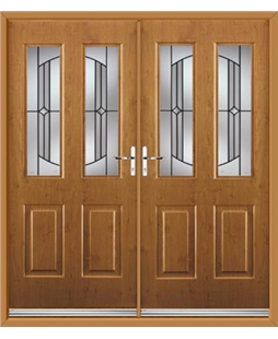 Jacobean French Rockdoor in Irish Oak with Ellipse