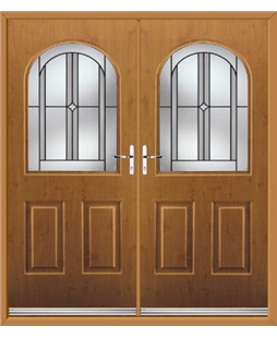 Kentucky French Rockdoor in Irish Oak with Ellipse