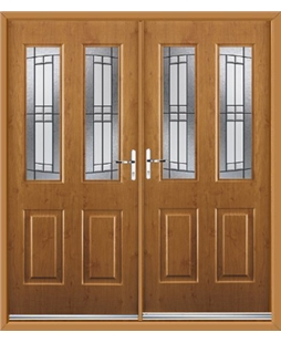 Jacobean French Rockdoor in Irish Oak with Empire