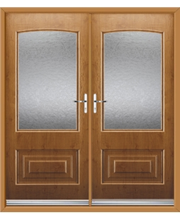 Portland French Rockdoor in Irish Oak with Gluechip Glazing