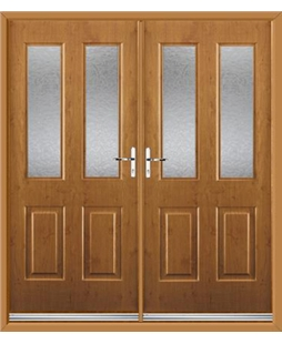 Jacobean French Rockdoor in Irish Oak with Gluechip Glazing