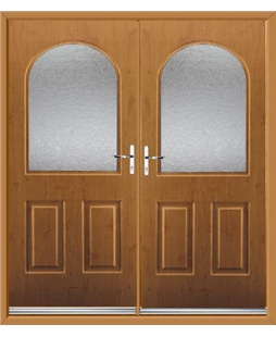 Kentucky French Rockdoor in Irish Oak with Gluechip Glazing