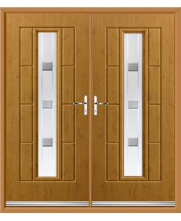 Vermont French Rockdoor in Irish Oak with Grey Shades