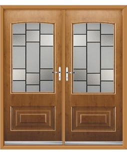 Portland French Rockdoor in Irish Oak with Horizon