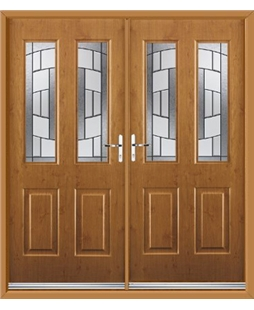 Jacobean French Rockdoor in Irish Oak with Inspire