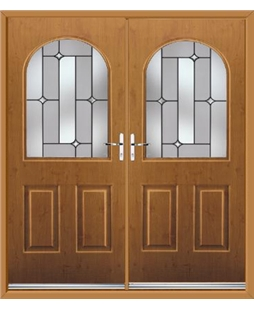 Kentucky French Rockdoor in Irish Oak with Linear