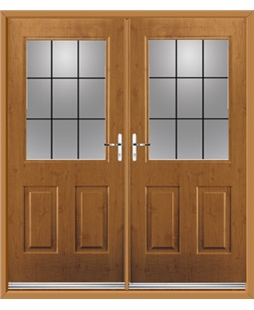 Windsor French Rockdoor in Irish Oak with Square Lead