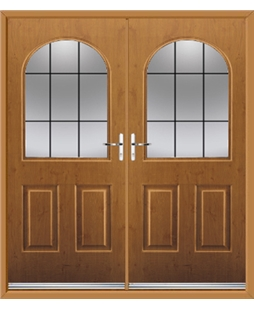Kentucky French Rockdoor in Irish Oak with Square Lead