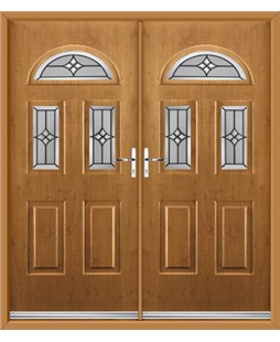 Tennessee French Rockdoor in Irish Oak with Summit