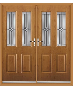 Jacobean French Rockdoor in Irish Oak with Summit