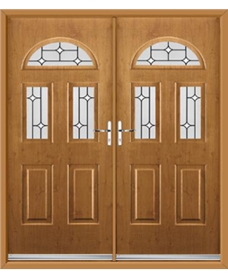 Tennessee French Rockdoor in Irish Oak with White Diamonds