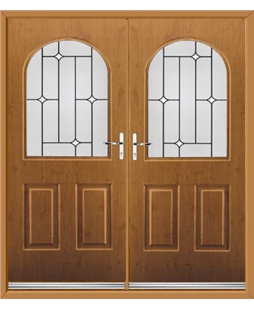 Kentucky French Rockdoor in Irish Oak with White Diamonds