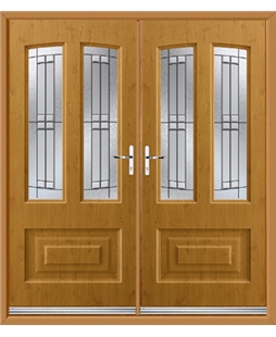 Illinois French Rockdoor in Irish Oak with Empire