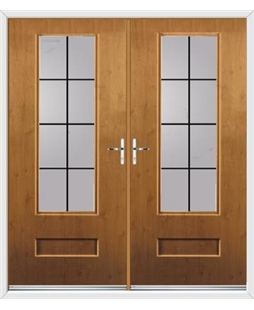Vogue French Rockdoor in Irish Oak with Square Lead