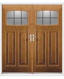 Newark French Rockdoor in Irish Oak with Square Lead