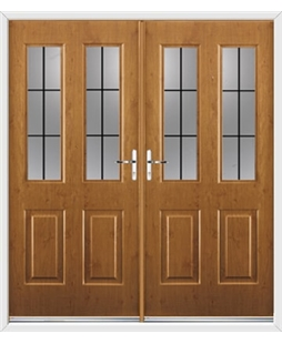 Jacobean French Rockdoor in Irish Oak with Square Lead