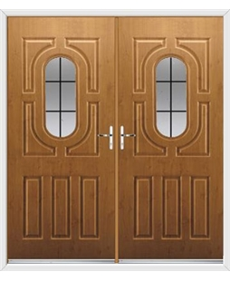 Arcacia French Rockdoor in Irish Oak with Square Lead