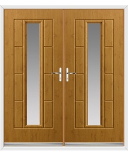 Vermont French Rockdoor in Irish Oak with Glazing