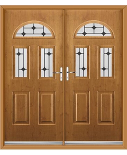 Tennessee French Rockdoor in Irish Oak with Black Diamonds