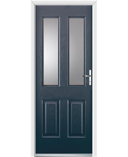 Ultimate Jacobean Rockdoor in Anthracite Grey with Glazing