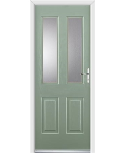 Ultimate Jacobean Rockdoor in Chartwell Green with Glazing