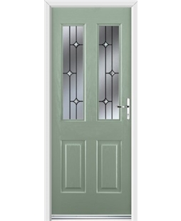 Ultimate Jacobean Rockdoor in Chartwell Green with Crystal Bevel