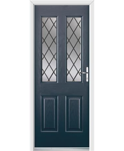 Ultimate Jacobean Rockdoor in Anthracite Grey with Diamond Lead