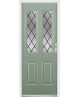 Ultimate Jacobean Rockdoor in Chartwell Green with Diamond Lead