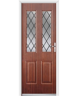 Ultimate Jacobean Rockdoor in Mahogany with Diamond Lead