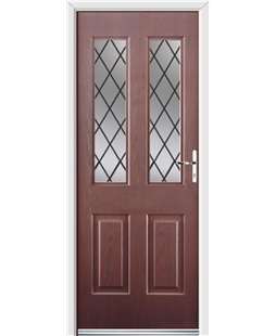 Ultimate Jacobean Rockdoor in Rosewood with Diamond Lead
