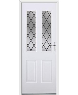 Ultimate Jacobean Rockdoor in White with Diamond Lead