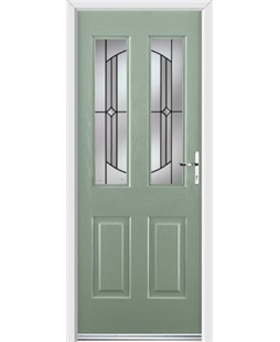 Ultimate Jacobean Rockdoor in Chartwell Green with Ellipse Glazing