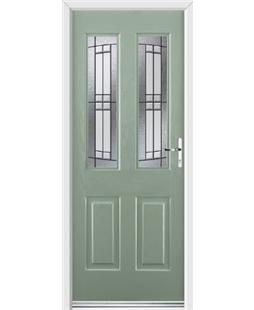 Ultimate Jacobean Rockdoor in Chartwell Green with Empire Glazing