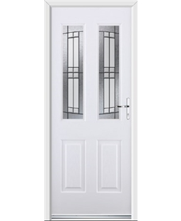 Ultimate Jacobean Rockdoor in White with Empire Glazing