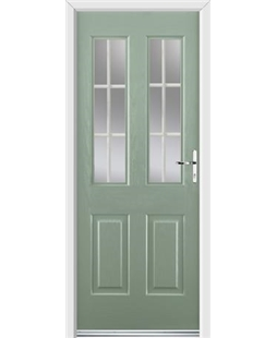 Ultimate Jacobean Rockdoor in Chartwell Green with White Georgian Bar