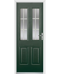 Ultimate Jacobean Rockdoor in Emerald Green with White Georgian Bar