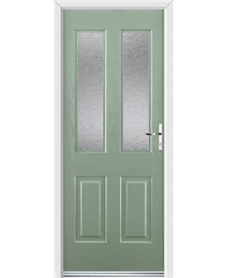 Ultimate Jacobean Rockdoor in Chartwell Green with Gluechip Glazing