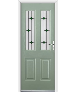 Ultimate Jacobean Rockdoor in Chartwell Green with Green Diamonds