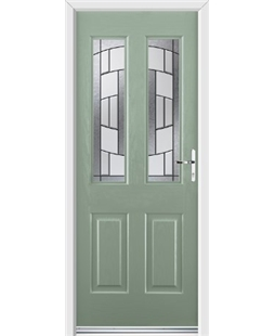 Ultimate Jacobean Rockdoor in Chartwell Green with Inspire Glazing