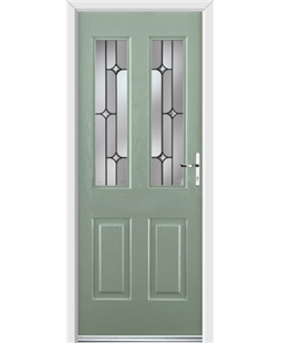Ultimate Jacobean Rockdoor in Chartwell Green with Linear Glazing