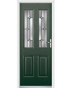 Ultimate Jacobean Rockdoor in Emerald Green with Linear