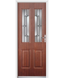 Ultimate Jacobean Rockdoor in Mahogany with Linear