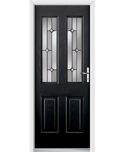 Ultimate Jacobean Rockdoor in Onyx Black with Linear