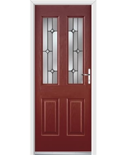 Ultimate Jacobean Rockdoor in Ruby Red with Linear