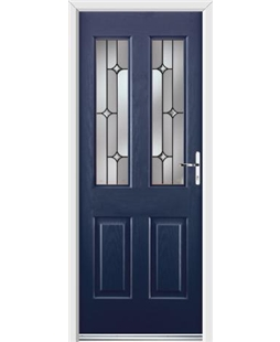 Ultimate Jacobean Rockdoor in Sapphire Blue with Linear