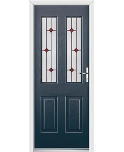 Ultimate Jacobean Rockdoor in Anthracite Grey with Red Diamonds