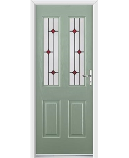 Ultimate Jacobean Rockdoor in Chartwell Green with Red Diamonds
