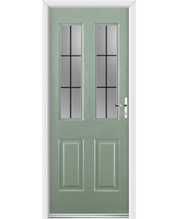 Ultimate Jacobean Rockdoor in Chartwell Green with Square Lead