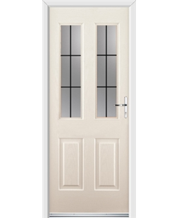 Ultimate Jacobean Rockdoor in Cream with Square Lead