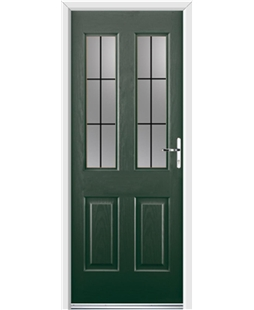 Ultimate Jacobean Rockdoor in Emerald Green with Square Lead